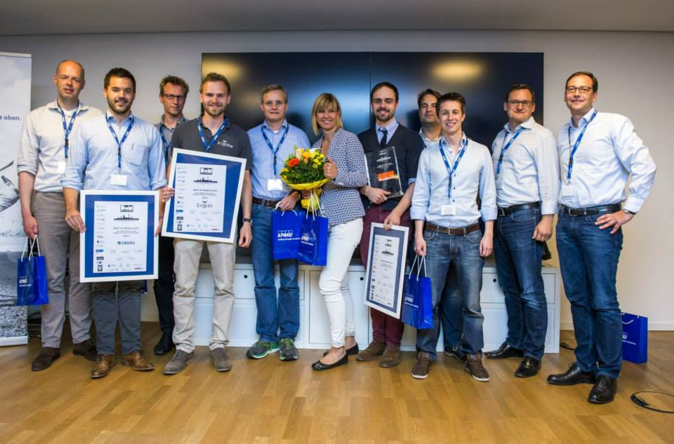 The winners and jury (David Heiny from SimScale, second from left) - Best of Munich