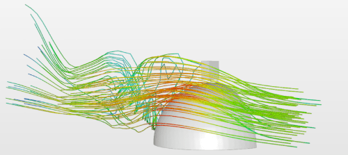 External Flow around a Helmet with a Go Pro cfd analysis simulation
