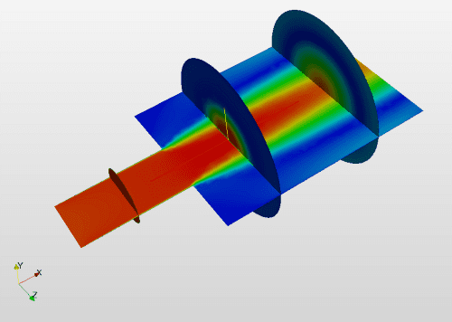 Community Projects - Sudden Expansion of a Pipe cfd analysis simulation