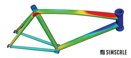 fea simulation and structural analysis of a bike frame