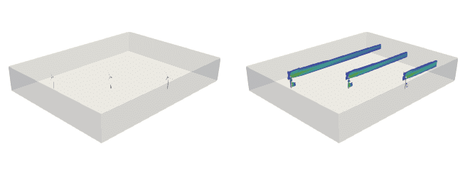 wind turbine placement in diagonal wind farms cfd simulation