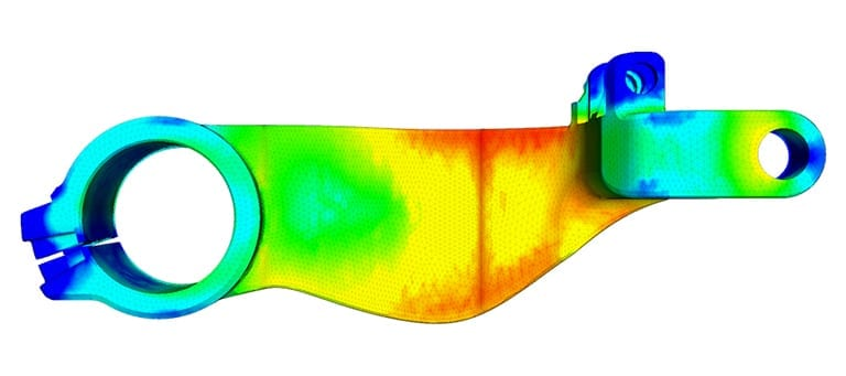 FEA Structural Analysis of a Motorbike Swingarm with SimScale