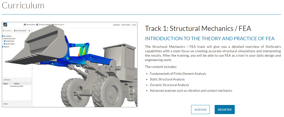 Professional training for structural mechanics fea simulation software