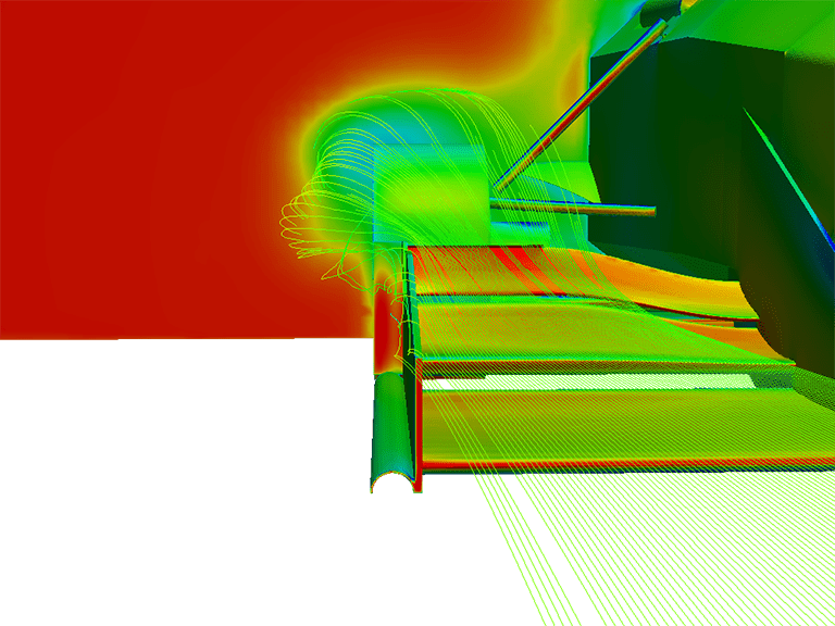 formula student race car front wing cfd simulation