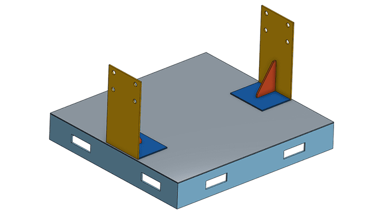 fixture design cad model for structural analysis