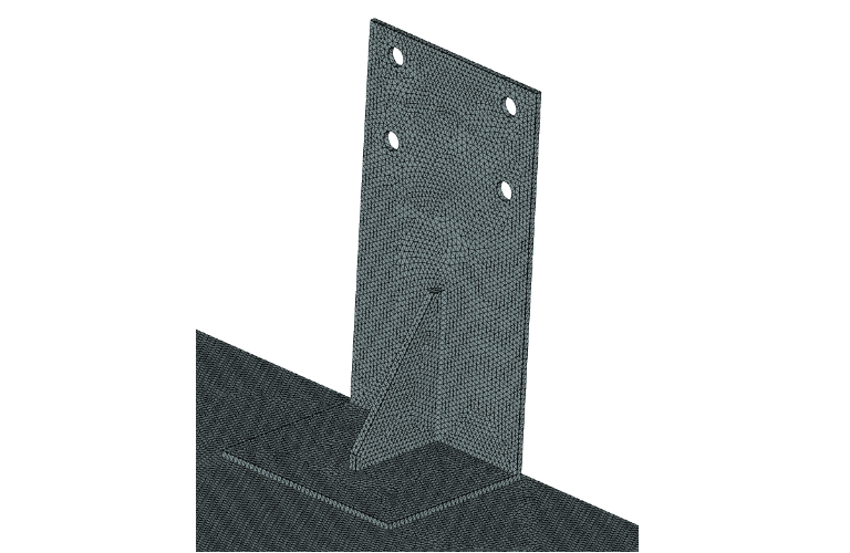 fixture tetrahedral mesh for structural analysis