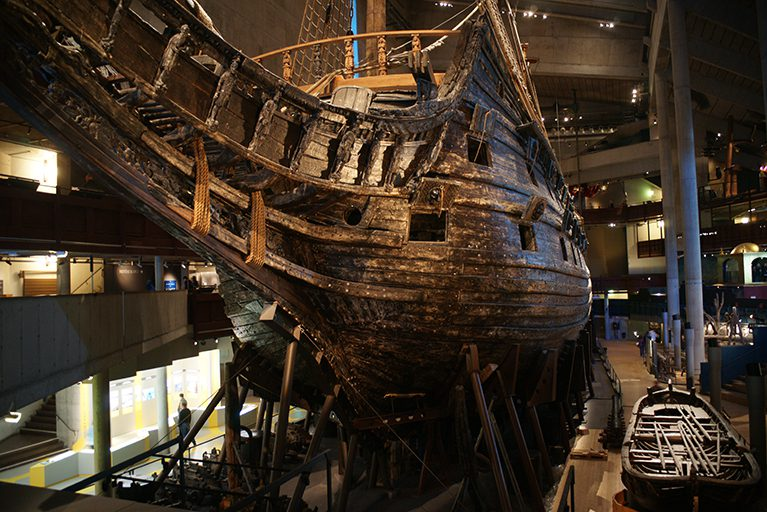 Real life Vasa ship at the museum in Stockholm