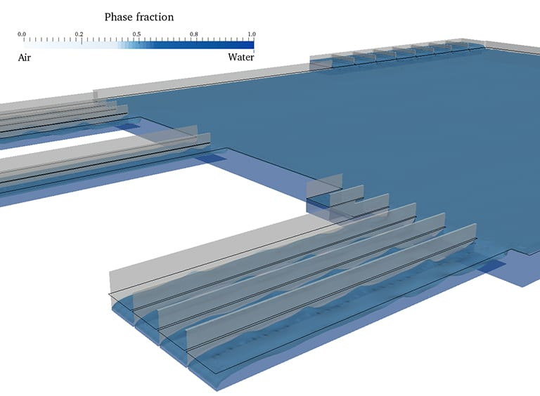 Phase fraction of free surfaces