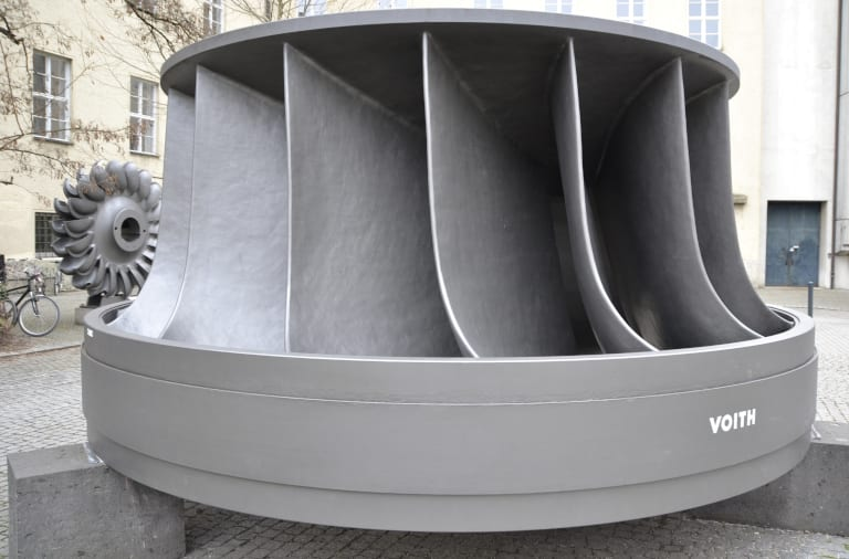 A Francis turbine manufactured by Voith