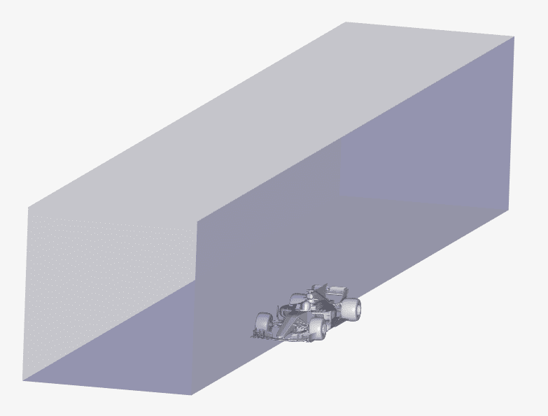 example of a background mesh box for a f1 car