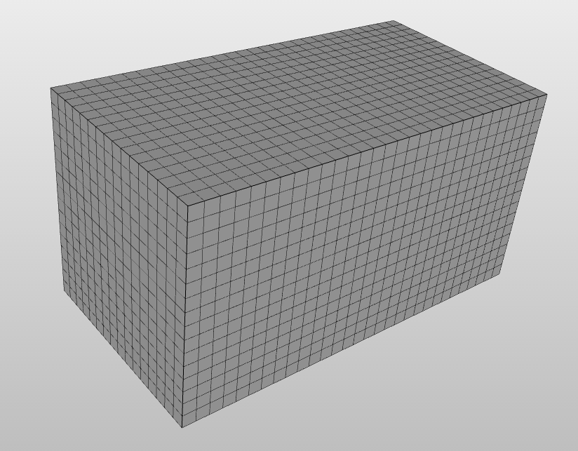 mesh with cube sized base cells