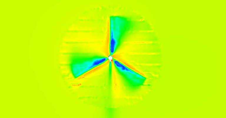 wind turbine simulator post processing image with simscale