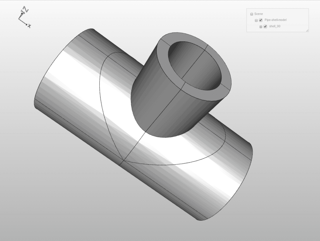 CAD model with shells