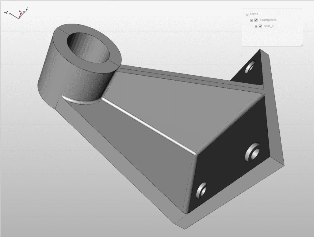 CAD model with one solid part
