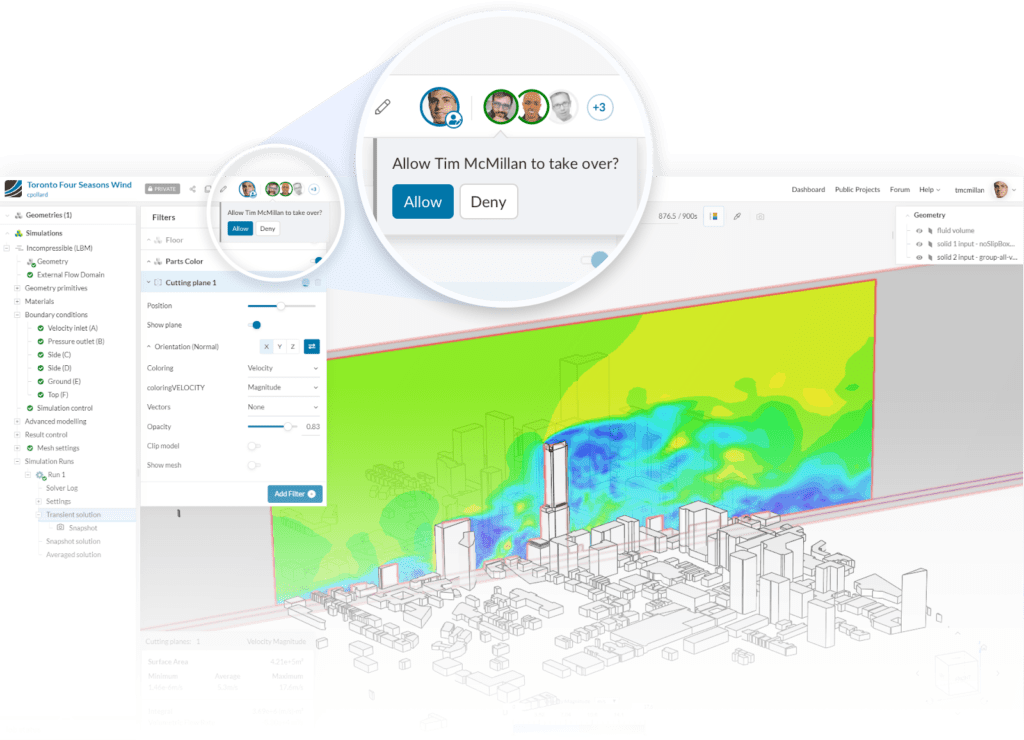simscale cloud-based cae collaboration feature for design process improvement