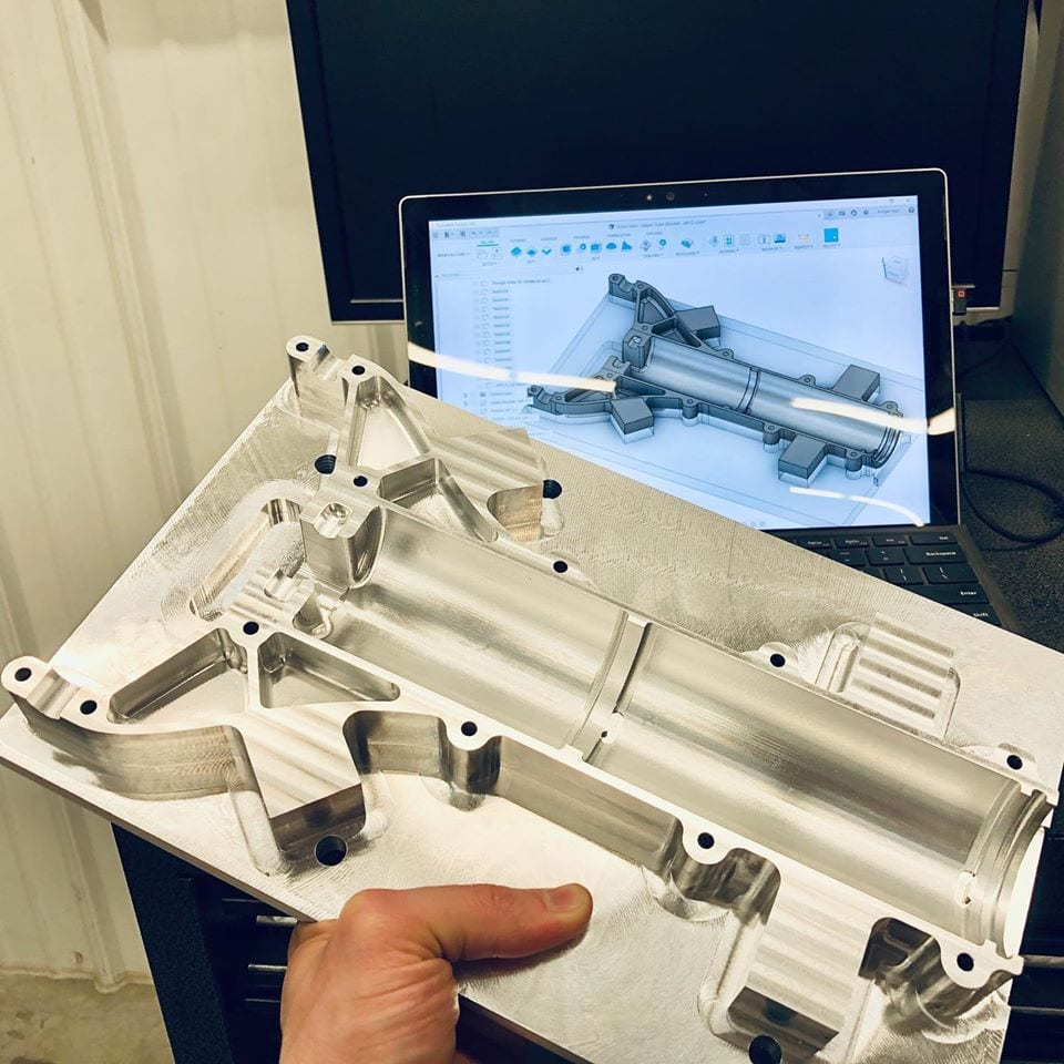 nose gear from CAD to prototype