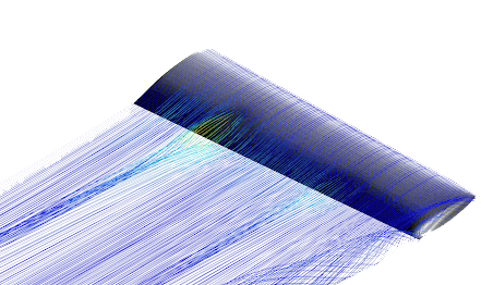cfd streamlines airflow separation at root of wing stall simscale and darkaero