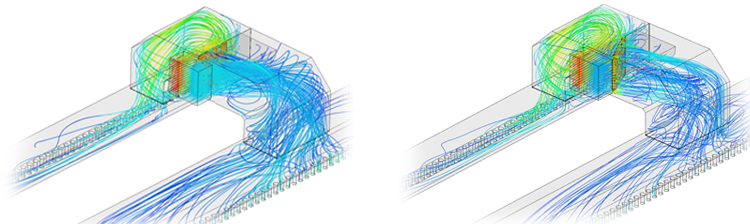 operating points airflow differences seen through cfd simulation with simscale