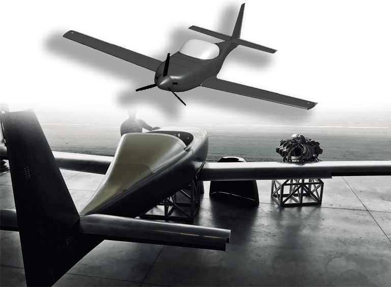 onshape aircraft design of darkero 1 and the real kit plane