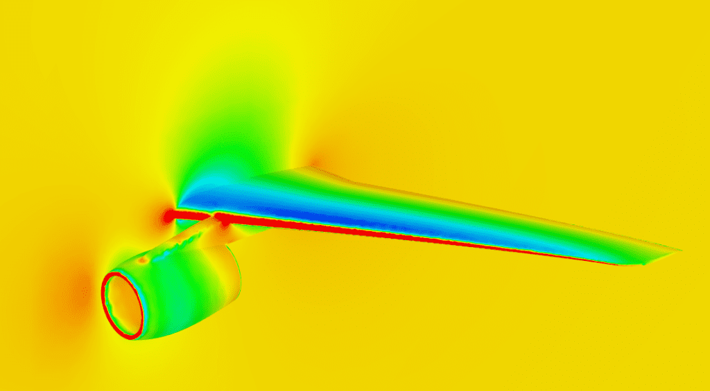 pressure distribution in and around a plane wing