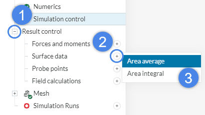 area average result control creation for thermal comfort assessment