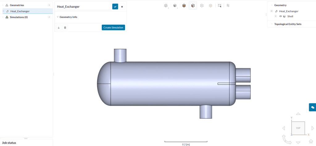 heat exchanger CAD import workbench
