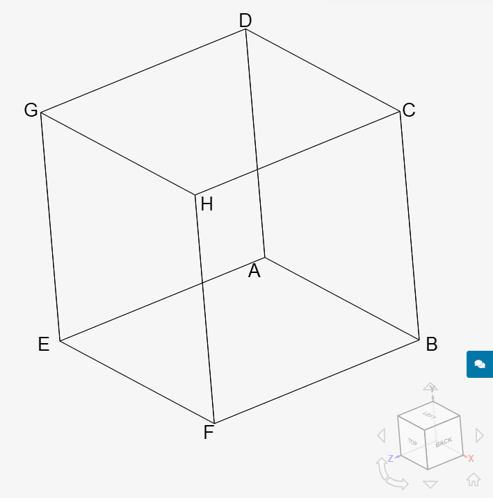 geometry of the cube used in secondary creep validation case