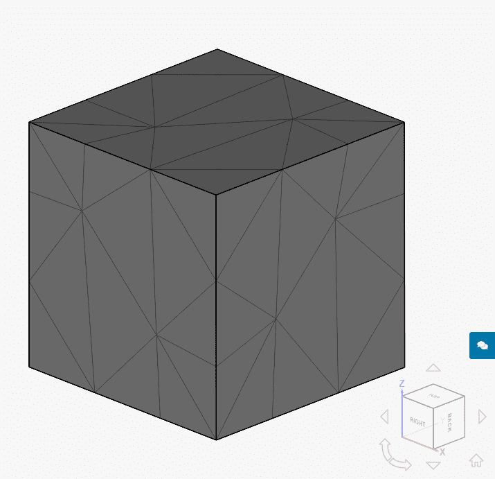 generated second order mesh in simscale which has 235 nodes for secondary creep validation