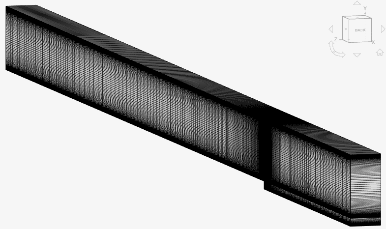 two dimensional hex mesh with one cell thickness in the z direction