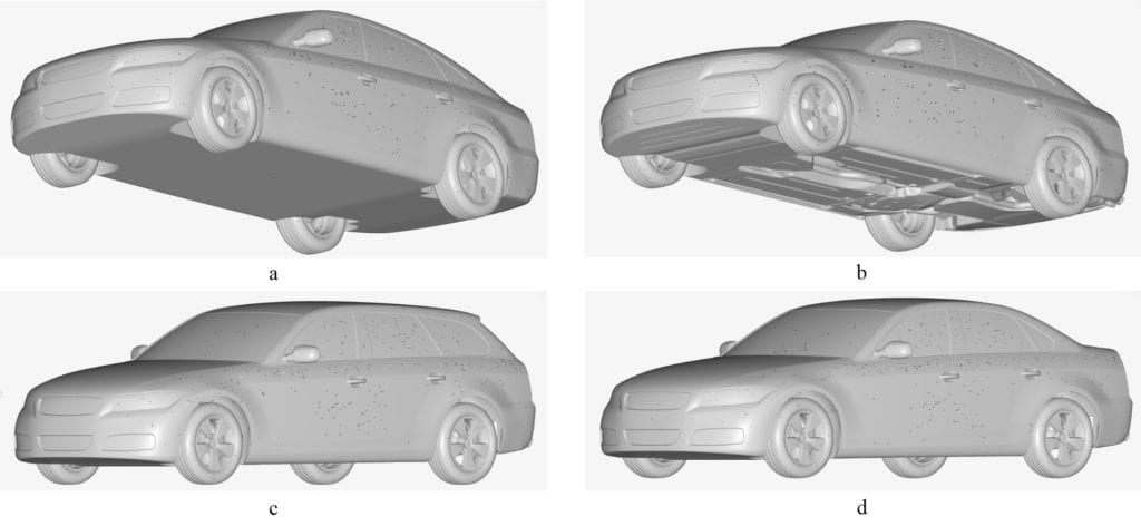 drivaer car models that were used in the validation case