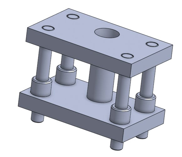 assembly of pressure tool that consists of four parts
