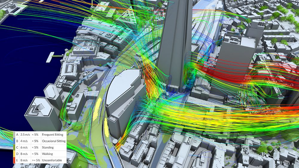 SimScale CFD simulation wind microclimate guidelines - AccuCities CAD