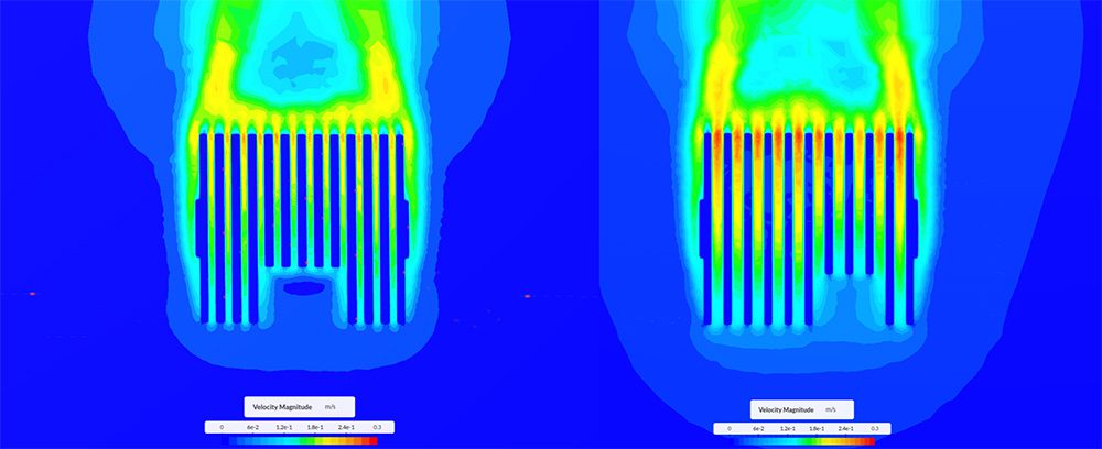 natural convection simulation results from simscale electronics cooling