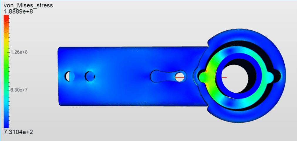 ISOfix connector simulated on SimScale