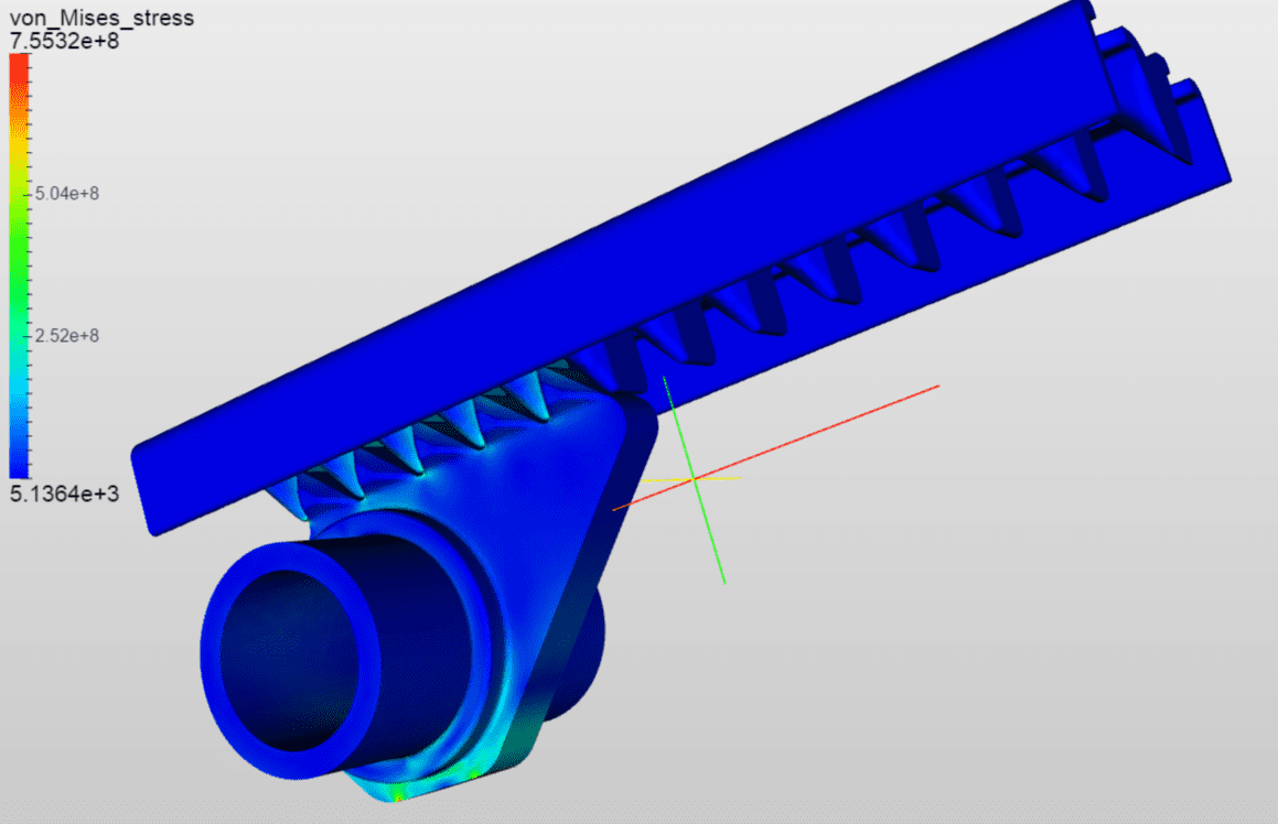 length adjustment rack - simulation with SimScale