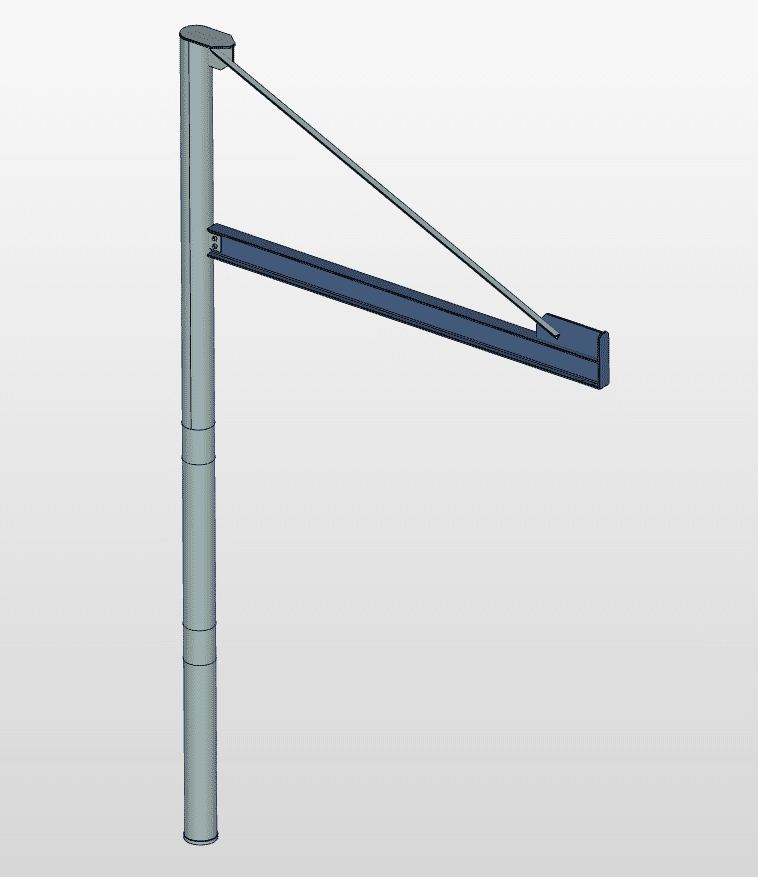 crane design of steel structures, davit crane