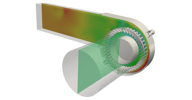 Static Pressure on A Centrifugal Fan ‒ CFD Analysis Carried Out with SimScale
