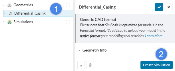 create simulation differential casing thermal simulation