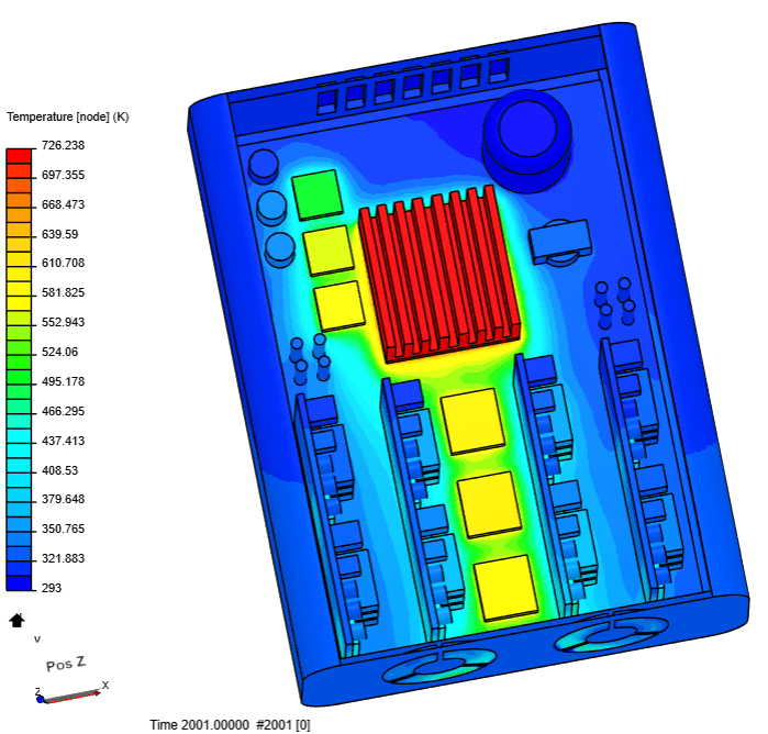 thermal management without forced convection achieved through this simscale tutorial