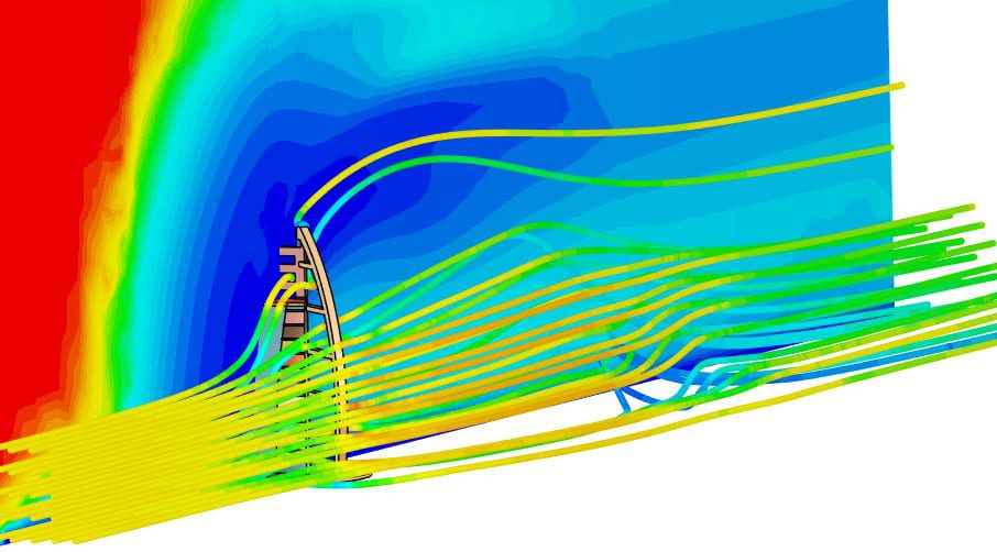 incompressible analysis over burj al arab in simscale
