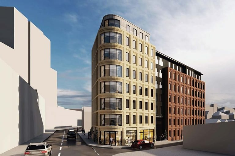 naturally ventilated student accommodation building in Nottingham city centre